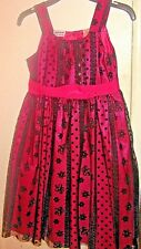 Blueberi Boulevard~Youth~Girl~ Neon~Pink~Black~Lace~Dress~Size 8~Very Pretty!