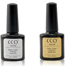 CCO UV LED Gel Twin Package Deal Top and Base Coat for Any Brand UV Nail Colours