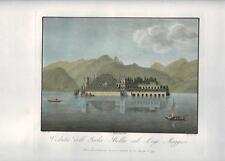 Stampa antica ISOLA BELLA sul LAGO MAGGIORE 1816 Old antique print