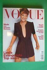 VOGUE PARIS OCTOBER 821/2001 LINDA EVANGELISTA MARIO TESTINO TERRY RICHARDSON