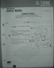 SONY SL-T30ME Correction 1 + 2 zum Service Manual