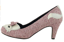 🦊T.U.K. Shoes A8670L Smodcloth Foxy Herringbone Heels  🦊  Women's 7