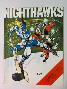 1974 (1/13) New Haven Nighthawks vs Richmond Robins AHL Hockey Program EXCELLENT