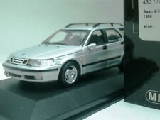 WOW EXTREMELY RARE Saab 9-5 Break 2.3t 1999 Silver 1:43 Minichamps-900/9-3/Spark