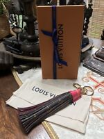 "LOUIS VUITTON Limited Edition SUMMER TRUNK PINK Tassel, 11"" Bag Charm, Key Chain"