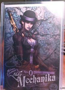 Lady Mechanika #0. ALE GARZA variant *RARE* 2X Signed by STEIGERWALD & BENITEZ