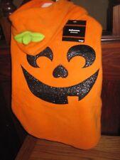 NEW Orange Pumpkin Hooded Fleece Jacket DOG Costume SIZE LARGE