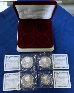 1988-1990 Soviet USSR CCCP Proof Coins Silver Platinum Palladium 3 25 150 Rubles
