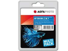 AGFA PHOTO Ink Cartridge hp 364XL SET Cyan /  Yel/ Mag  / Bk photosmart  7510