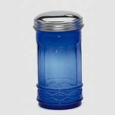 New Cobalt Blue Glass Sugar Shaker Dispenser Retro Cafe Depression Style