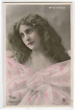 c 1907 French Theater Music Hall Melle D'ORVILLE Long Hair Beauty photo postcard