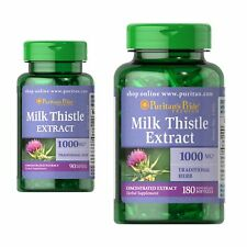 Puritans Pride Milk Thistle Extract 1000mg 90 Softgels Detox/Liver (Silymarin)