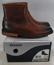 94c42d4b232 SEBAGO Men's METRO ZIP Light Brown Distressed Leather Ankle Boot US 8 D  B190023