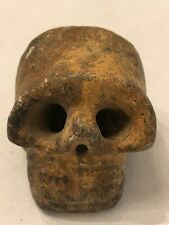 Ancient Carved Stone Skull Pendant / Walking Stick Topper
