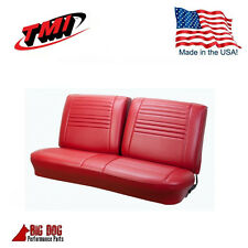 1967 Chevy Chevelle Front Bench Seat Upholstery Red Made in USA by TMI