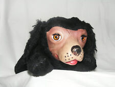 Vintage Gund Mohair Open and Shut Eyes Dog / Soft Rubber Face 1930's no tag.