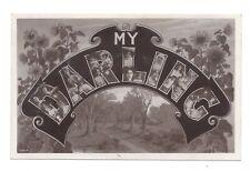 Vintage RP greetings Friendship postcard 'My Darling'. pmk Cambridge 1906