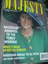 Majesty Magazine V12 #8 Yorks' Wedding Memories, Royals Watch Gulf War Parade,