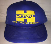 Vtg Royal Tractor Company Snapback hat cap rare 80s farming equipment industry