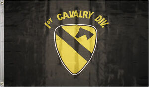 3x5 US Army 1st First Cavalry Division Black Flag 3'x5' House Banner Grommets