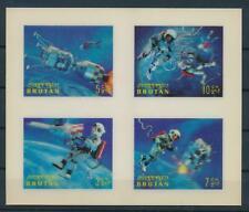 [104075] Bhutan 1967 Space travel Plastic 3D effect Miniature sheet MNH