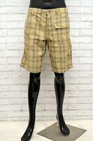 Bermuda MURPHY & NYE Uomo Taglia 33 Pantalone Jeans Shorts Pantaloncino a Quadri