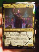 Inalla, Archmage Ritualist, Distressed Foil Hand Painted Mtg Alter