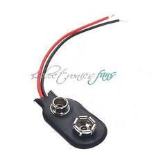 20PCS 9V PP3 9Volt battery snap on clip connector I Type Holder 10CM Lead  PP3
