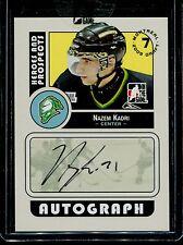 2008-09 ITG Heroes & Prospects Autograph Draft Day Pick  Nazem Kadri  #A-NK