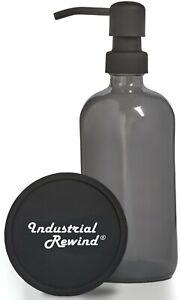Gray Soap Dispenser w/ Black Soap Pump 8oz Soap Lotion Dispenser Soap Holder