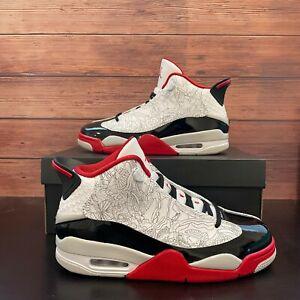 Air Jordan Dub Zero White Varsity Red Men's Basketball Sneaker 311046-116