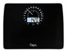 Rev Digital Bathroom Scale with Electro-Mechanical Weight Dial Black