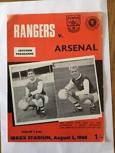 RANGERS v ARSENAL 1968/9.