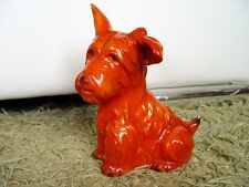Goebel Porzellanfigur, Terrier, Hund, 19cm, 1930er Jahre, orange