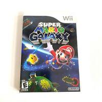Wii Super Mario Galaxy Nintendo Video Game Disc Case Instruction Booklet Manual