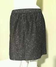 ANN TAYLOR LOFT Black & Silver Tweed Shimmer Skirt Size 12P