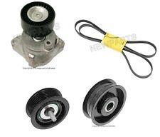 OEM Alternator Water pump Drive Belt Tensioner kit+2 Idler Pulley for Mercedes