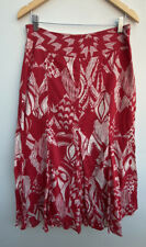 Maxi Skirt Red Size 12 Principles Cotton White Pattern <MM1277