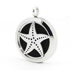Stainless Steel Starfish Aromatherapy Locket Necklace