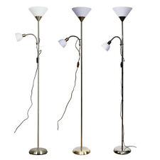 Mother & Child Floor Lamp White Frosted Shades Contemporary Lounge Reading Lamp
