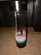 PINK sports water bottle with straw