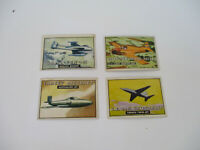 Wings Topps Vintage Trading Card Lot Jet Aircraft Airplane 148 195 146 130 1952