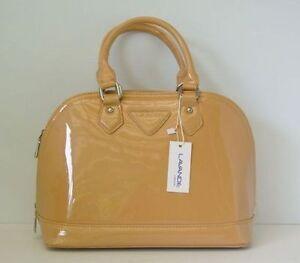 Fashion Women Handbag Satchel Shoulder Hobo Tote patent apricot Shell Shape bag