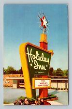 Liberal KS, Holiday Inn, Hotel, Advertising, Chrome Kansas Postcard