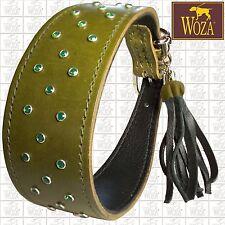 WOZA Windhund Halsband Vollleder Whippet Lederhalsband Rindnappaleder Co SP41715
