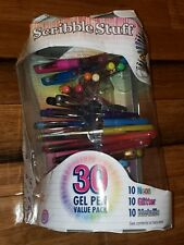 New damaged Write Dudes Gel Pens with Helix Pen Stand, Scribble Stuff, 30 Count