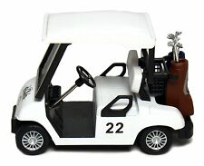 Die-Cast Metal Golf Club Cart Model Caddy Car With Club Pull Back action 5 inch