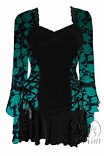 Gothic BOLERO Corset Top GREEN IVY Size Jr Large
