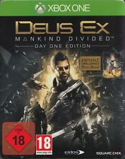 DEUS EX - MANKIND DIVIDED - DAY ONE EDITION - STEELBOOK - XBOX ONE - NEU & OVP
