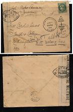 France censor cover to  US  , 1940   returned             KEL0412
